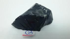 Pedra Bruta De Obsidiana Negra Natural (32g)
