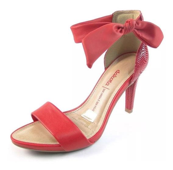Sandalia Dakota Salto Alto Fino 10cm Vermelha Z5632