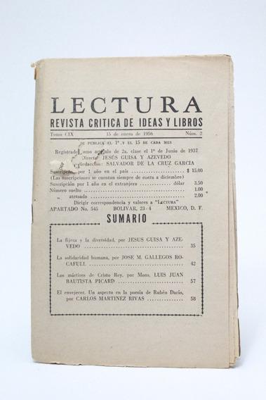 Lectura Revista Crítica De Ideas Y Libros Enero 1956 A1r