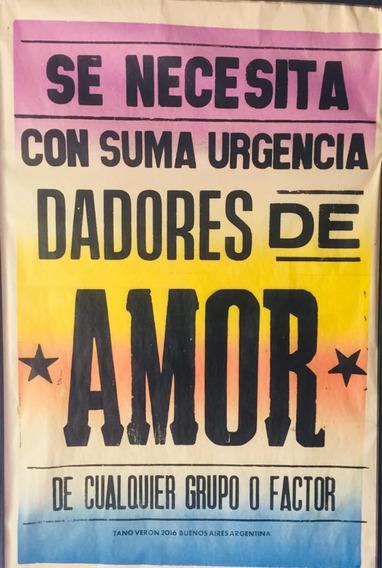 Póster Afiche Callejero Tano Verón Grande 104cm X 74 Cm