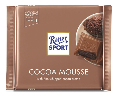 Tableta Chocolate Ritter Cocoa Mousse X100grs