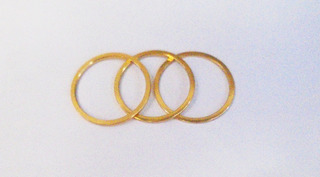 Espaçador Calço Aluminio Movimento Central Dourado (3 Pçs)