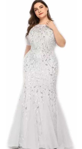 Vestido De Novia Blanco Extra Grande Plus Size 22 O 2xl