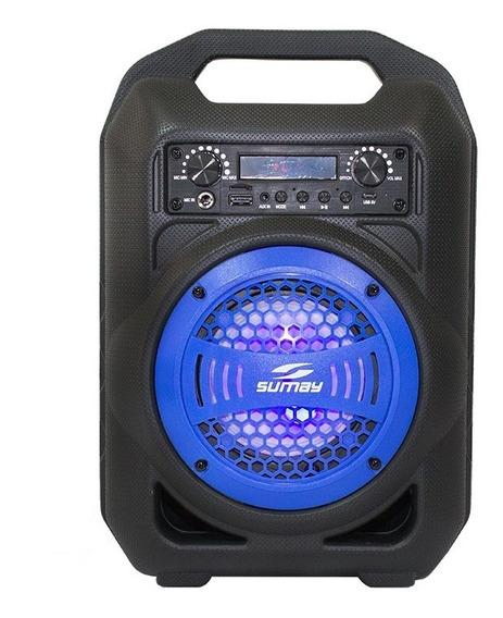 Caixa Som Portátil Bluetooth/usb/sd/fm/mp3 30w Led Sumay