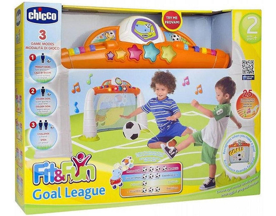 Juguete Arco De Futbol Goal League Chicco Sonidos Cuotas