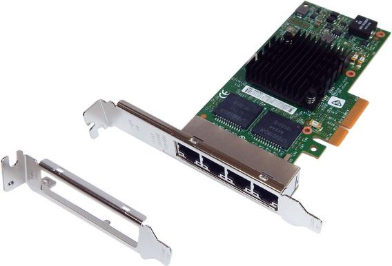 Placa Rede Gigabit Quad 4 Portas 1000mbit Pcie I350-t4 Intel