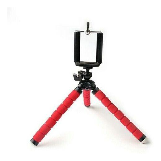 Tripé Flexível Tipo Polvo Para Gravação Vídeo Suporte Smartp
