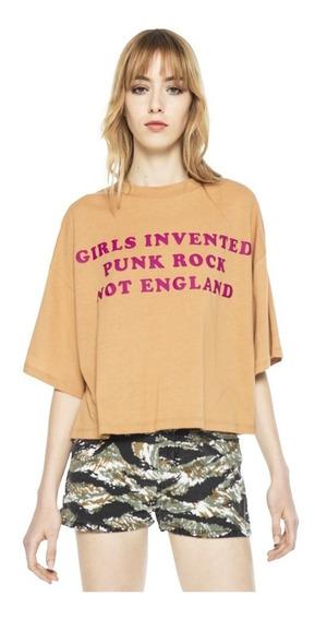 Remera Punk Rock Texto Jersey Cuello Redondo Mujer Complot