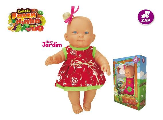 Boneca Bebe Baby Coleção Fazendinha Jardim Original Zap 1015