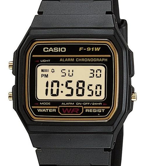 Relógio Casio Masculino Digital Vintage F-91wg-9qdf