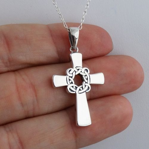 Imagen 1 de 1 de Collar De Hombres Dijes Plata 950 Cruz Cruces Celta Varon