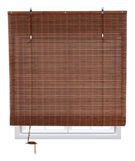 Persiana Bambu Enrollable Chocolate Deco