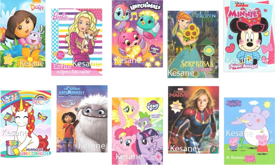 10 Libros Para Colorear Niñas Surtido Iluminar Fiestas Niña