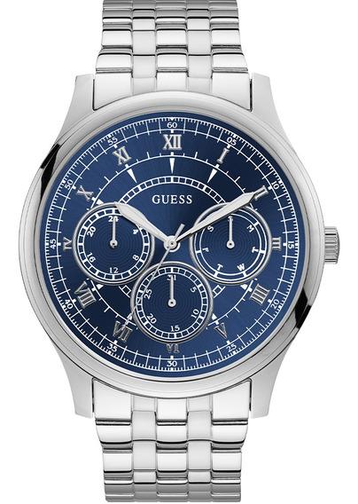 Relógio Masculino Guess Prateado Aço 92724g0gdna3 Original