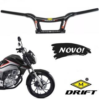 Guidão Mônaco Drift Baixo Alumínio Moto Titan 150 160 Fan