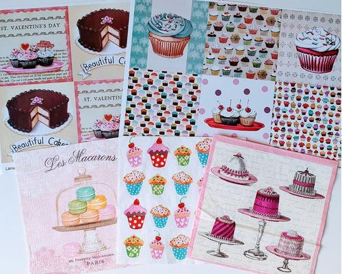 Laminas + Servilletas Tortas Y Cupcakes Laura Craft