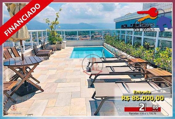 Apartamento Com 2 Dormitórios À Venda, 86 M² Por R$ 410.000,00 - Aviação - Praia Grande/sp - Ap1294