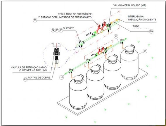 Template Instalação De Gás - Revit 16,17,18,19,20