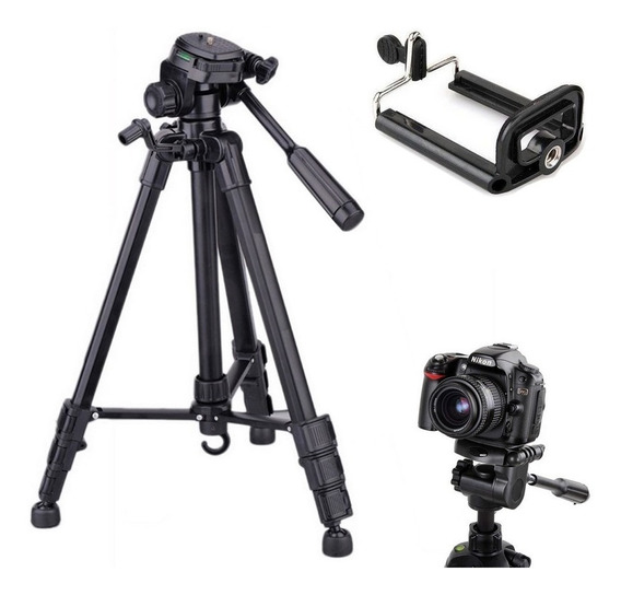 Tripé Telescópico Profissional Nikon 1,80m + Suporte Celular