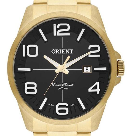 Relógio Orient Masculino Sport Dourado Original Sk56 + Nota