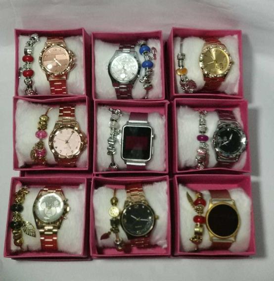 Kit Relógio Feminino Luxo Atacado Promoção