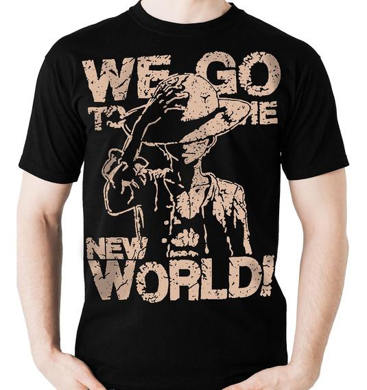 Camiseta One Piece Luffy New World (geek) Anime Camisa Blusa