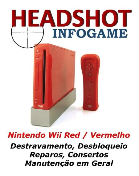 Conserto Manutenção Reparo Nintendo Wii Red Limited Vermelho