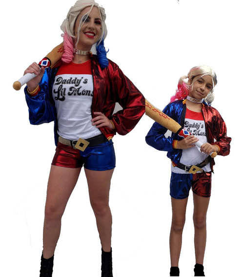Fantasia Arlequina Camiseta Camisa Harley Quinn ( Sem Short