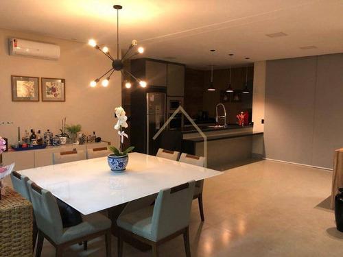Imagem 1 de 30 de Encantadora Casa Com Três Suítes Dentro Do Condomínio Em Americana - Ca1712