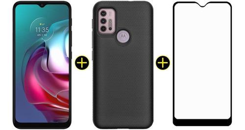 Kit Celular Motorola Moto G30 Preto 128gb + Capa + Pelicula