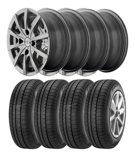 Kit 4 Llantas Rodado 13 Eb + 4 Pirelli P400 165 70 R13