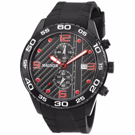 Relógio Magnum Masculino Cronografo Ma34898v Preto Aço