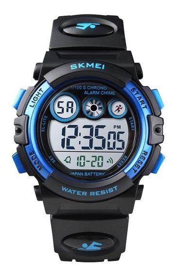 Reloj Para Nadar Niño Niña Led Skmei 1451 Contra Agua 50m