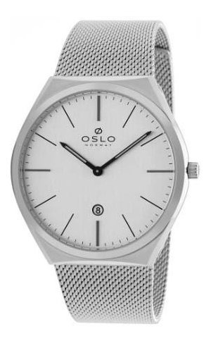 Relógio Oslo Masculino Prateado