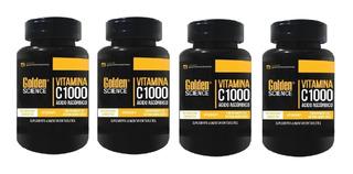 4x Vitamina C 1000mg - 480 Tabs Antioxidante Com Brinde