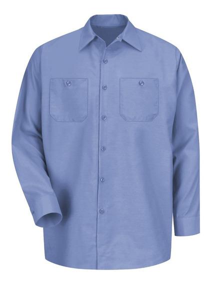 Camisa De Trabajo Azul Cielo Talla Chica Marca Red Kap