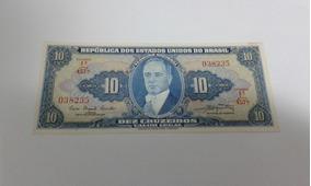 Nota Antiga De 10 Cruzeiros