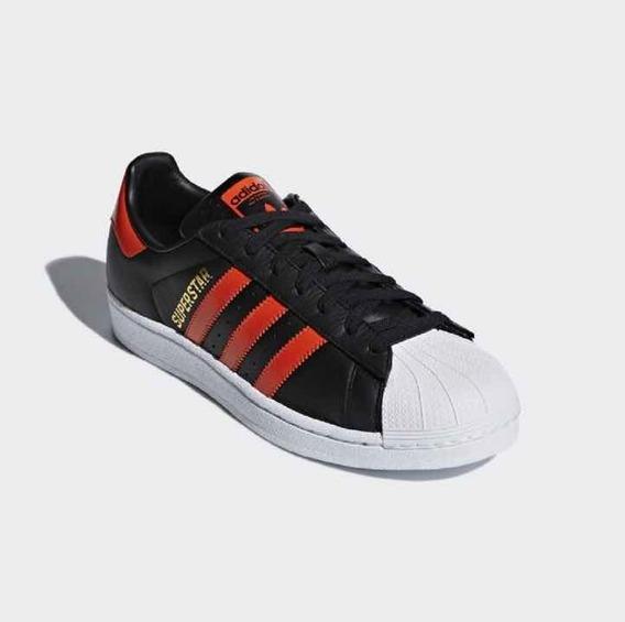 Tenis adidas Superstar Preto E Vermelho Original Promoção!!!