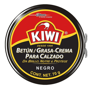 Crema Kiwi Negro Para Calzado 70 Gramos
