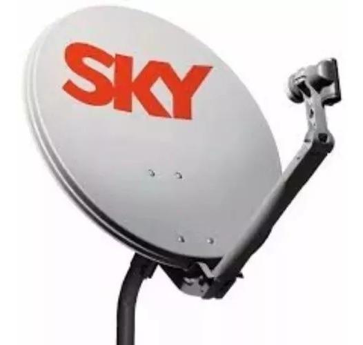 2 Antena Sky Ku 60 Cm Lnb Duplo 30 Metros De Cabo Completa