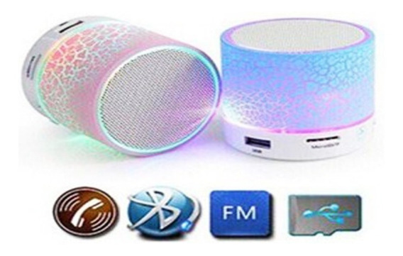 Mini Caixinha De Som Led Com Bluetooth