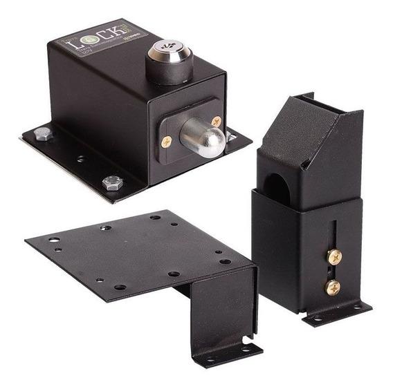 Trava Portao Automatico Basculante Lock Plus C/ Suporte Ipec