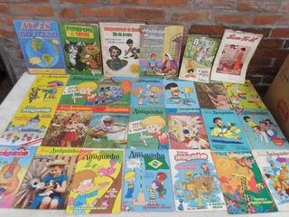 Lote 21 Revistas Infantil Nosso Amiquinho + 6 Outras