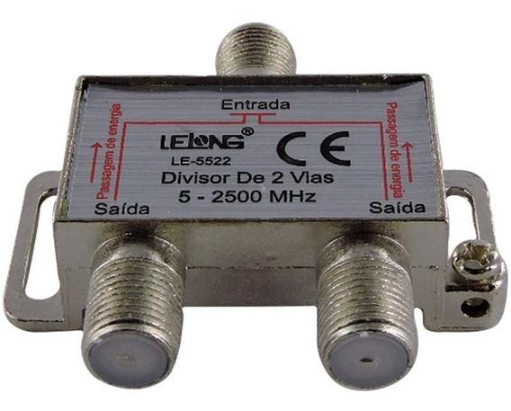 Divisor Para Antena Tv 2 Saídas 5-2500 Mhz - Kit 5 Peças