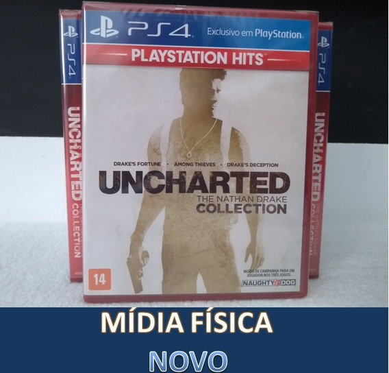 Uncharted Collection Ps4 100% Português Mídia Física Novo