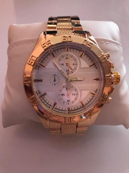 Relógio Masculino Dourado Stainless Rx