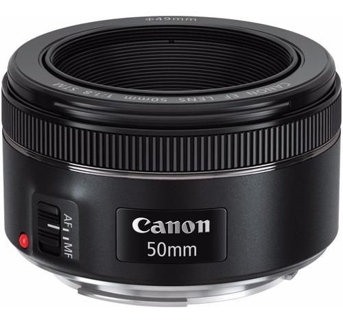 Lente Canon Ef 50mm F/1.8 Stm + Filtro De Brinde