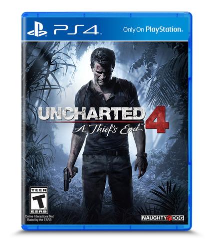 Imagen 1 de 4 de Uncharted 4: A Thief's End Standard Edition PS4 Físico