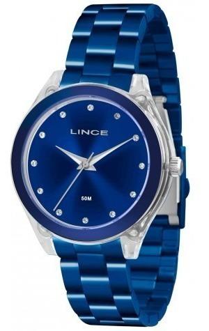 Relógio Feminino Lince Lra4431p D1dx Analógico Azul