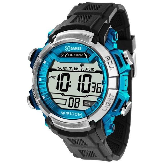 Relógio Masculino X-games Xmppd410 Bxpx Digital Preto/azul